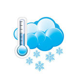 Cold Weather Icon — Stock Vector