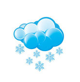 Snow Icon — Stock Vector