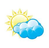 Cloudy Icon — Stock Vector