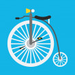 Vector Retro Bicycle Icon — Stock Vector