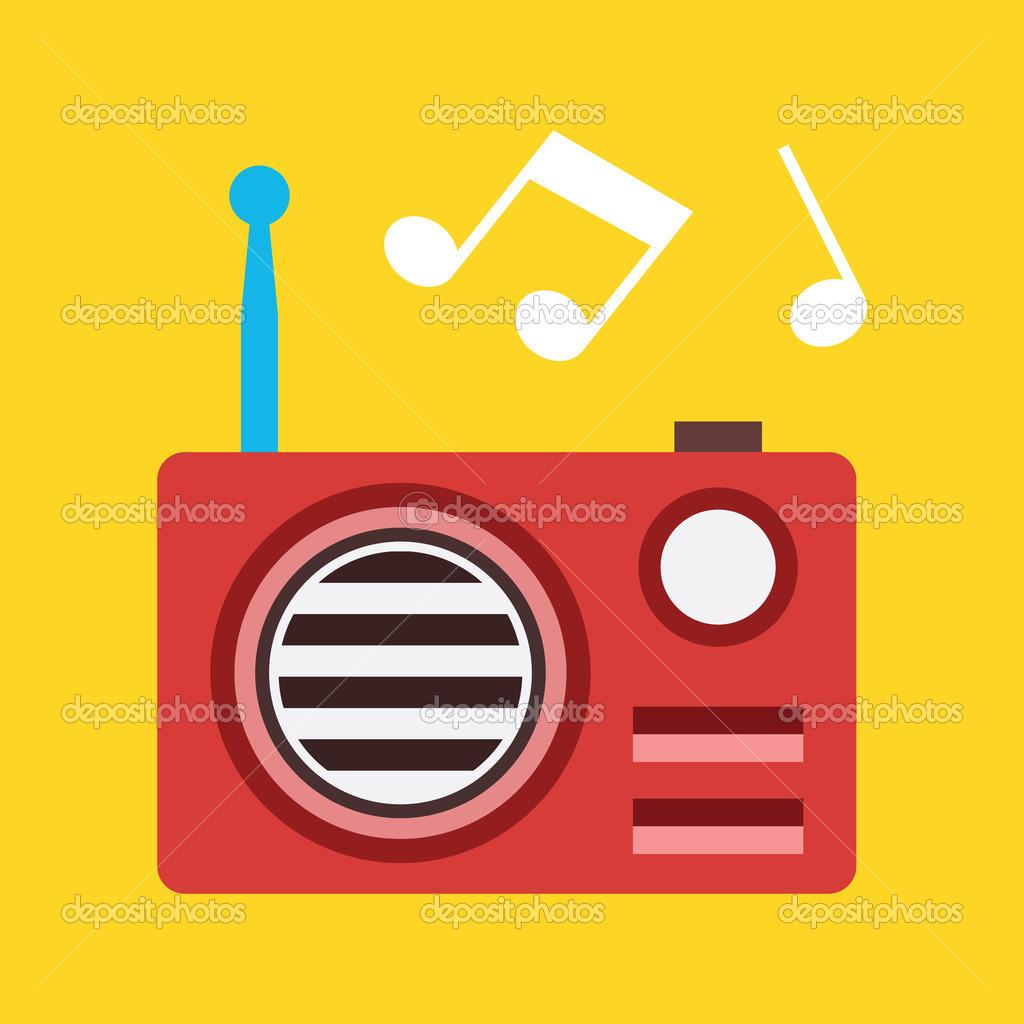 Иконка Радио вектор — Стоковое ...: ru.depositphotos.com/33525699/stock-illustration-vector-radio-icon...