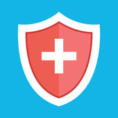 Vector Medical Shield Icon — Stock Vector