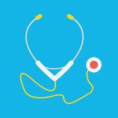 Vector Stethoscope Icon — Stock Vector