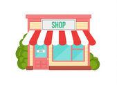 Shop Flat Icon — Stock Vector
