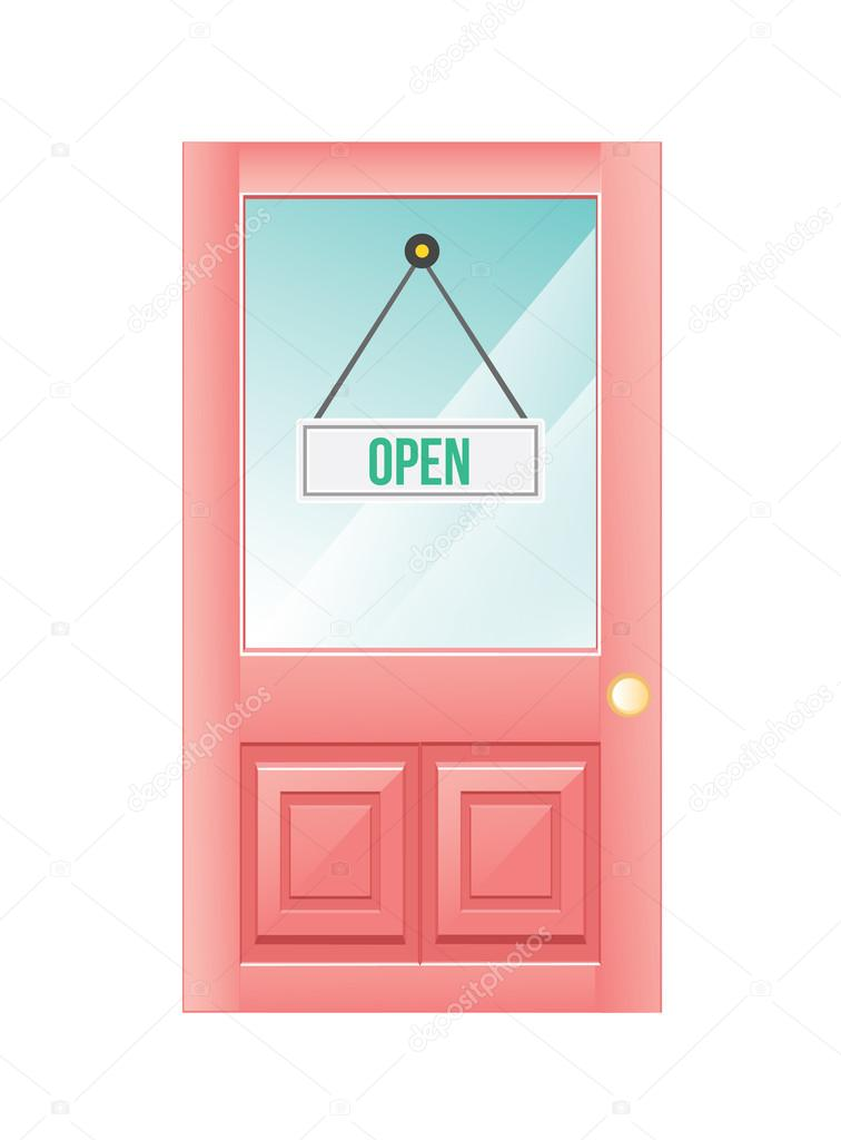 Open Door Icon Vector Door Open Vector by Magurok5