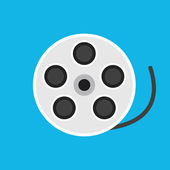 Vector Film Reel Icon — Wektor stockowy