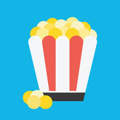 Vector Popcorn Icon — Stock Vector