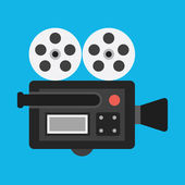 Vector Video Camera Icon — Vettoriale Stock