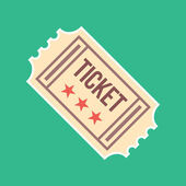 Vector Vintage Ticket Icon — Stock Vector