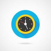 Icona orologio vector — Vettoriale Stock