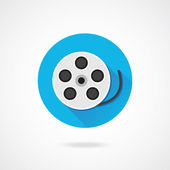 Vektor film reel icon — Stockvektor