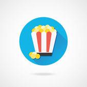 Vector Popcorn Icon — Stock Vector