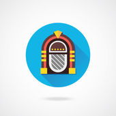 Vector Retro Jukebox Icon — Stock Vector