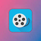 Vector Film Reel Icon — Vettoriale Stock