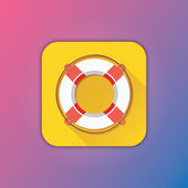 Vector Lifebuoy Icon — Stock Vector