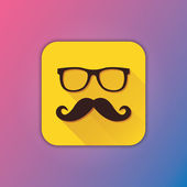 Vector Mustache and Glasses Icon — Stockvektor