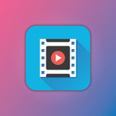 Vector Video Frame Icon — Stock Vector