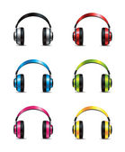 Conjunto de fones de ouvido — Vetor de Stock