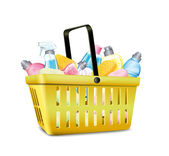 Basket With Detergent — Stock Vector