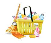 Basket With Detergent2 — Stock Vector