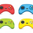 Color Gamepad Set — Stockvectorbeeld