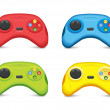 Color Gamepad Set — Imagen vectorial