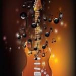 Guitar With Melody — Vector de stock