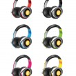 Headphones Set — Stockvectorbeeld
