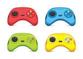 Conjunto de colores gamepad — Vector de stock