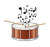 Drum With Melody — Stock Vector
