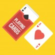 Vector Playing Cards Icon — Stock Vector