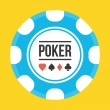 Vector Poker Chip Icon — Stock Vector