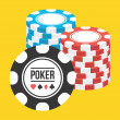 Vector Poker Chips Stacks Icon — Stock Vector