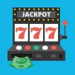 Vector Slot Machine Icon — Stock Vector