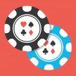 Vector Two Poker Chips Icon — Vettoriali Stock