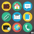 Vector Icons for Web and Mobile Applications. Set 5. — Stock Vector