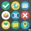 Stock vektor: Vector Icons for Web and Mobile Applications. Set 3.