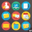 Vector Icons for Web and Mobile Applications. Set 7. — Vettoriale Stock #36835869