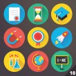 Stockvector : Vector Icons for Web and Mobile Applications. Set 10.