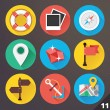 Vector Icons for Web and Mobile Applications. Set 11. — Imagen vectorial