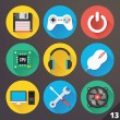 Stock vektor: Vector Icons for Web and Mobile Applications. Set 13.