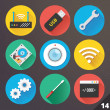 Vector Icons for Web and Mobile Applications. Set 14. — Imagen vectorial