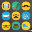 Vector Icons for Web and Mobile Applications. Set 19. — Imagen vectorial