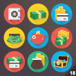 Stock vektor: Vector Icons for Web and Mobile Applications. Set 18.