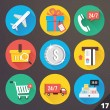 Stock vektor: Vector Icons for Web and Mobile Applications. Set 17.