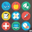 ストックベクタ: Vector Icons for Web and Mobile Applications. Set 20.