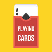 Vector Deck of Playing Cards Icon — Stock Vector