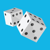 Vector Dice Icon — Stock Vector