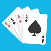 Vector Four Aces Playing Cards Icon — Stok Vektör