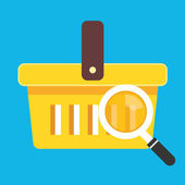 Vector Search Shopping Cart Icon — Stock Vector